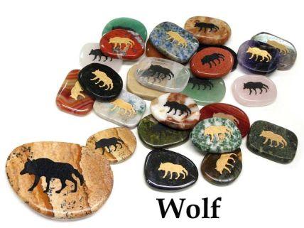 Raccoon Totem Round Porcelain Pendant on Black Cord